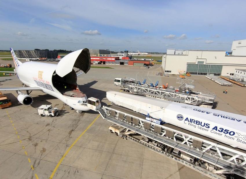 Transportframe voor Airbus A350 vleugelpanelen