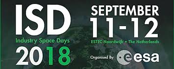 Visit us at Industry Space Days 11+12 September 2018 at ESA-ESTEC Noordwijk